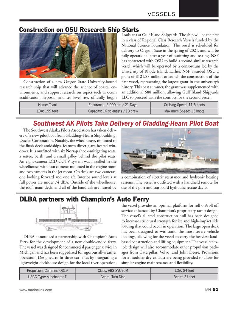 Marine News Magazine, page 51,  Jan 2019