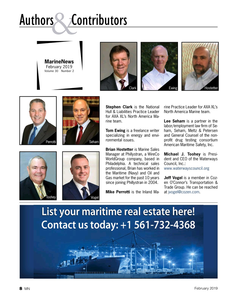 Marine News Magazine, page 8,  Feb 2019