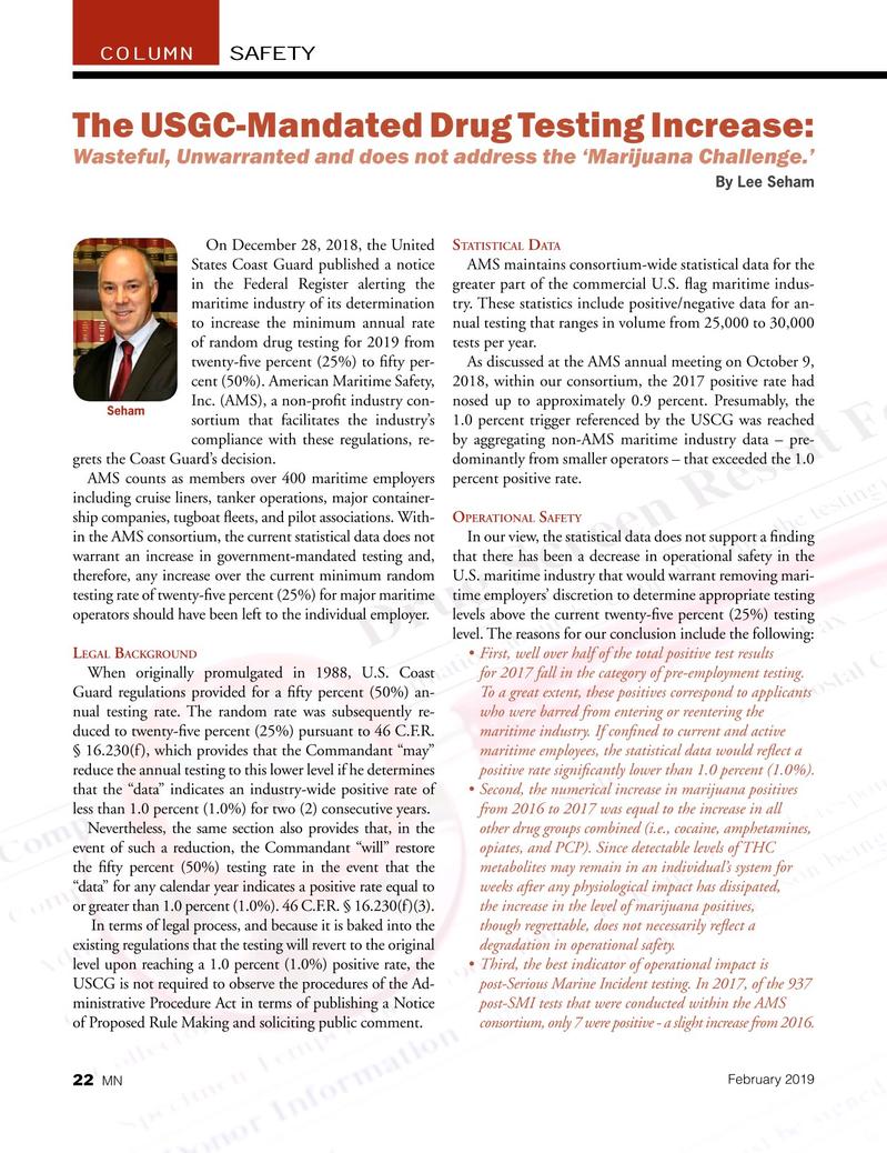 Marine News Magazine, page 22,  Feb 2019