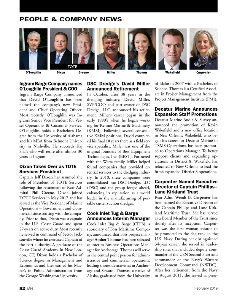Marine News Magazine, page 52,  Feb 2019