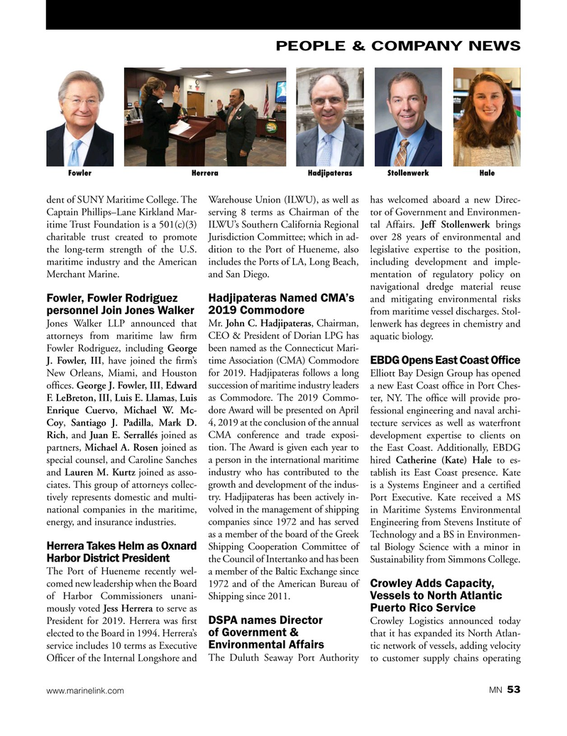Marine News Magazine, page 53,  Feb 2019