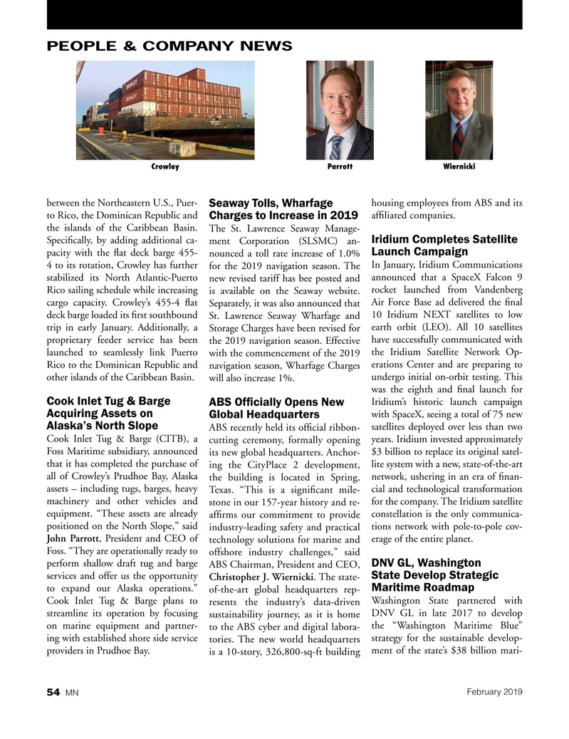 Marine News Magazine, page 54,  Feb 2019