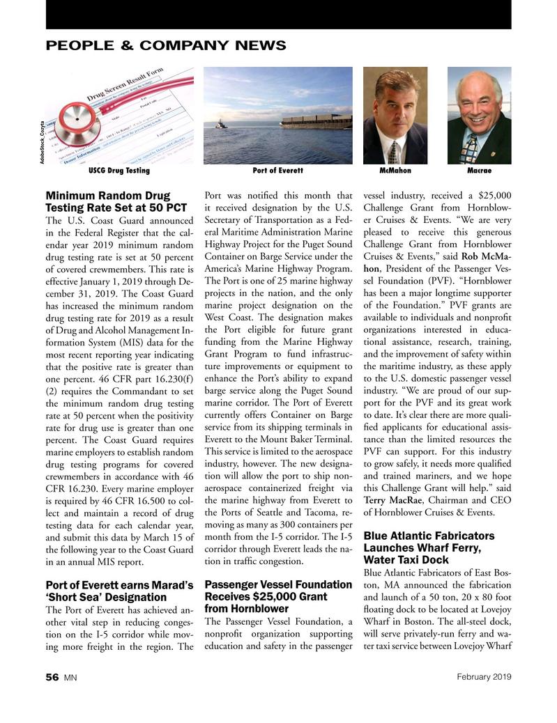 Marine News Magazine, page 56,  Feb 2019