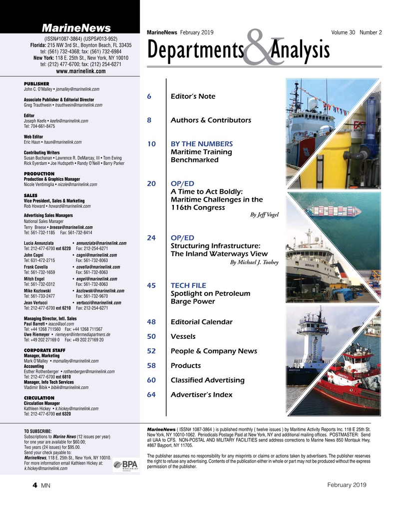 Marine News Magazine, page 4,  Feb 2019