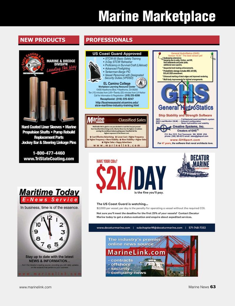 Marine News Magazine, page 63,  Feb 2019