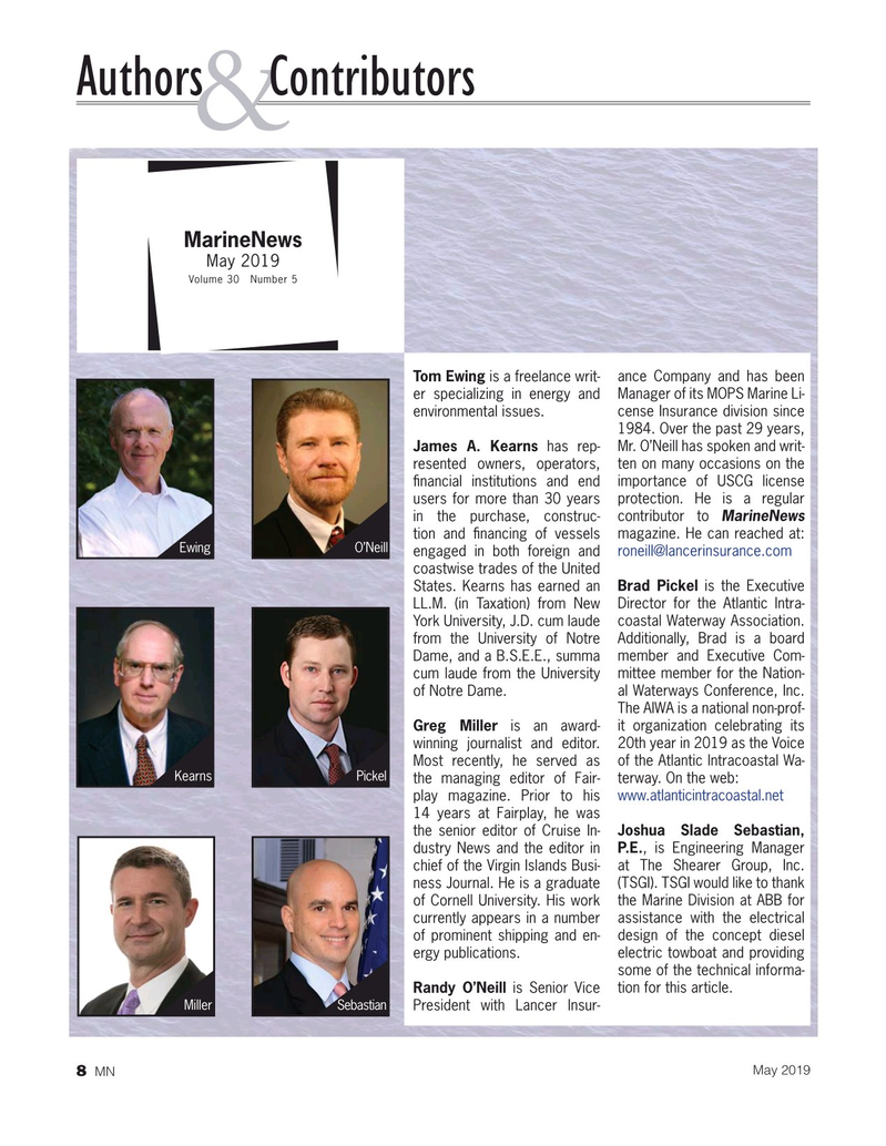Marine News Magazine, page 8,  May 2019