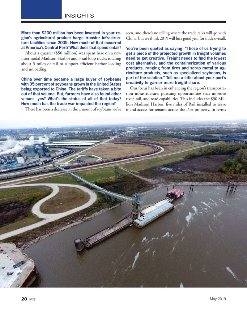 Marine News Magazine, page 20,  May 2019