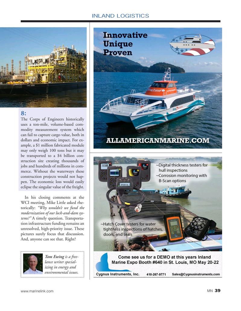 Marine News Magazine, page 39,  May 2019