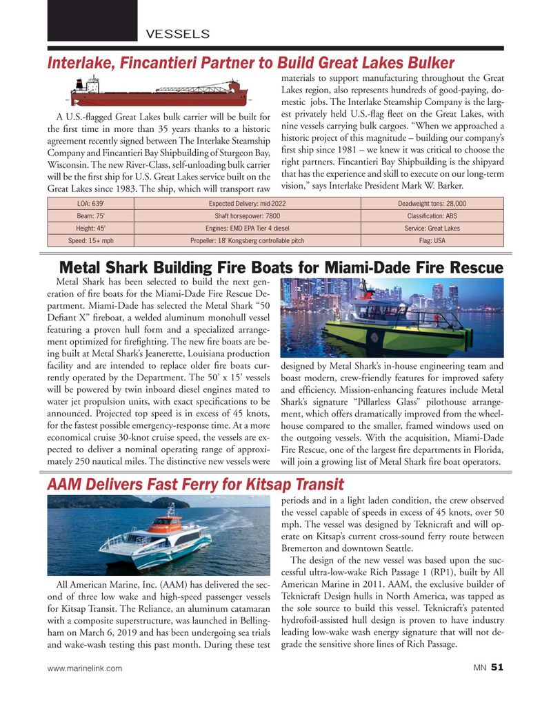 Marine News Magazine, page 51,  May 2019