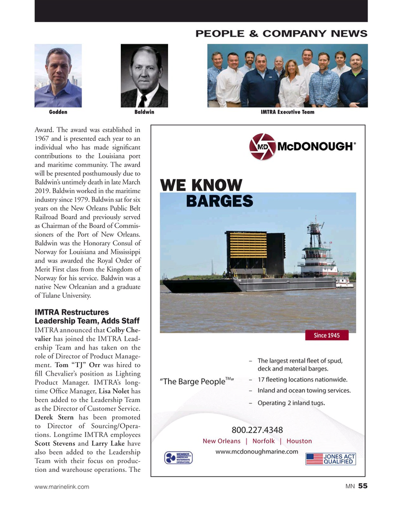 Marine News Magazine, page 55,  May 2019