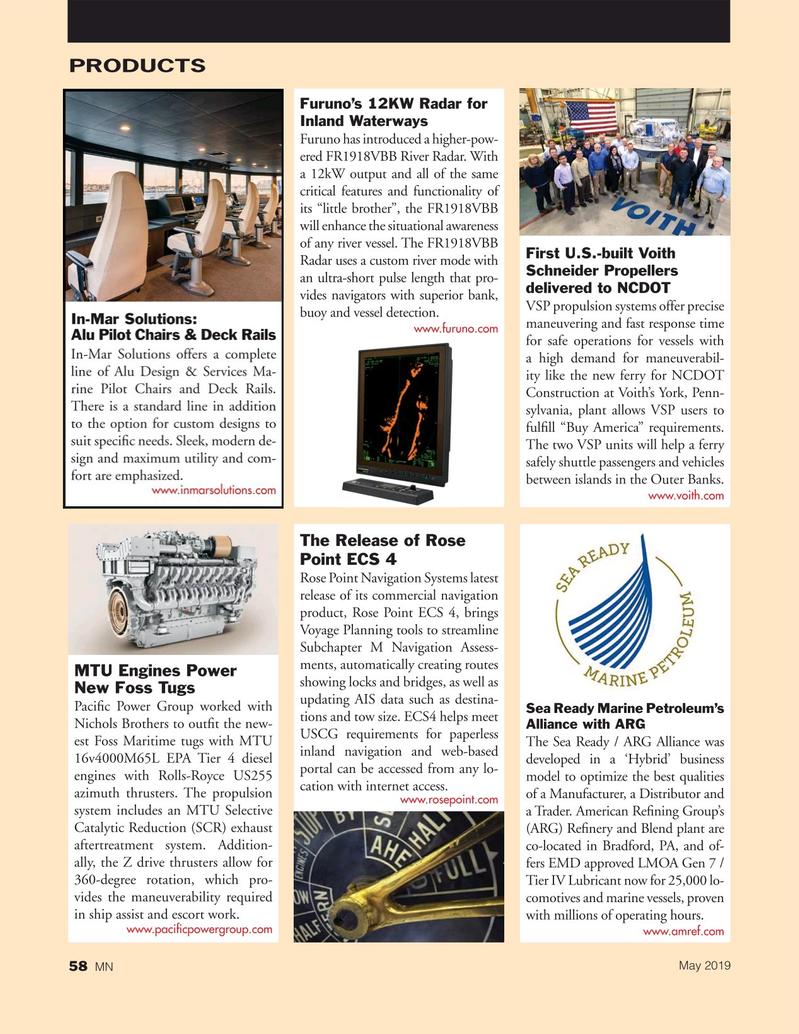 Marine News Magazine, page 58,  May 2019