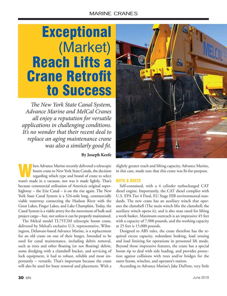 Marine News Magazine, page 3rd Cover,  Jun 2019