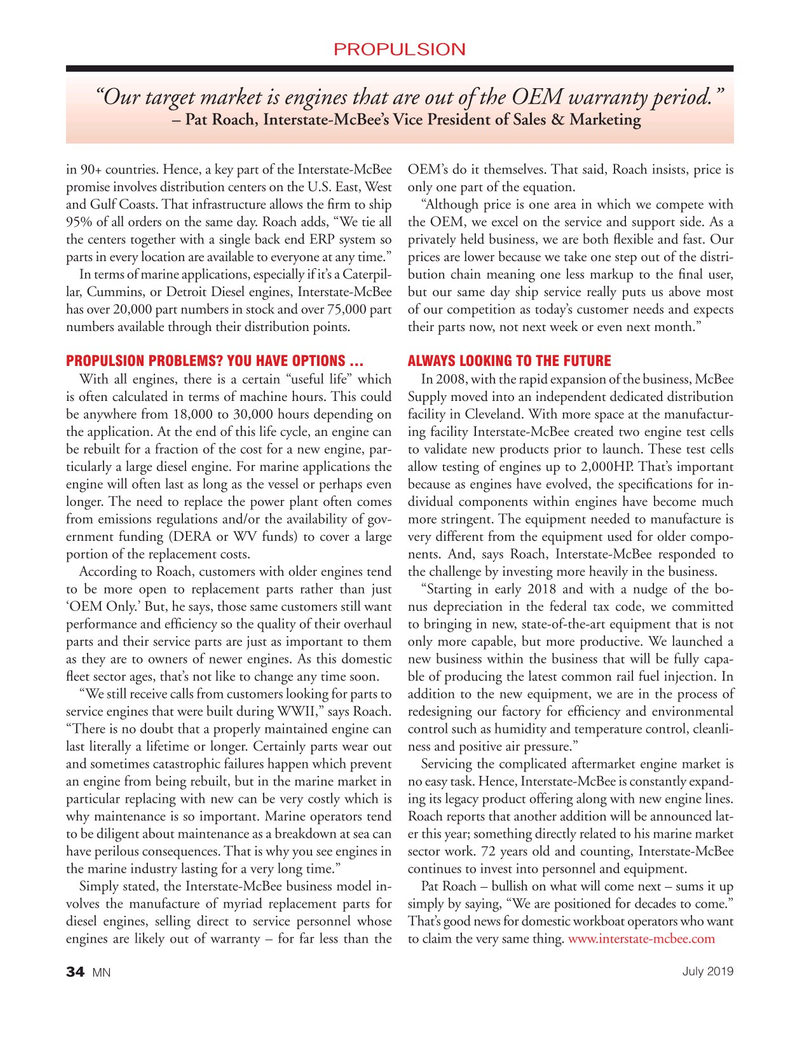 Marine News Magazine, page 34,  Jul 2019