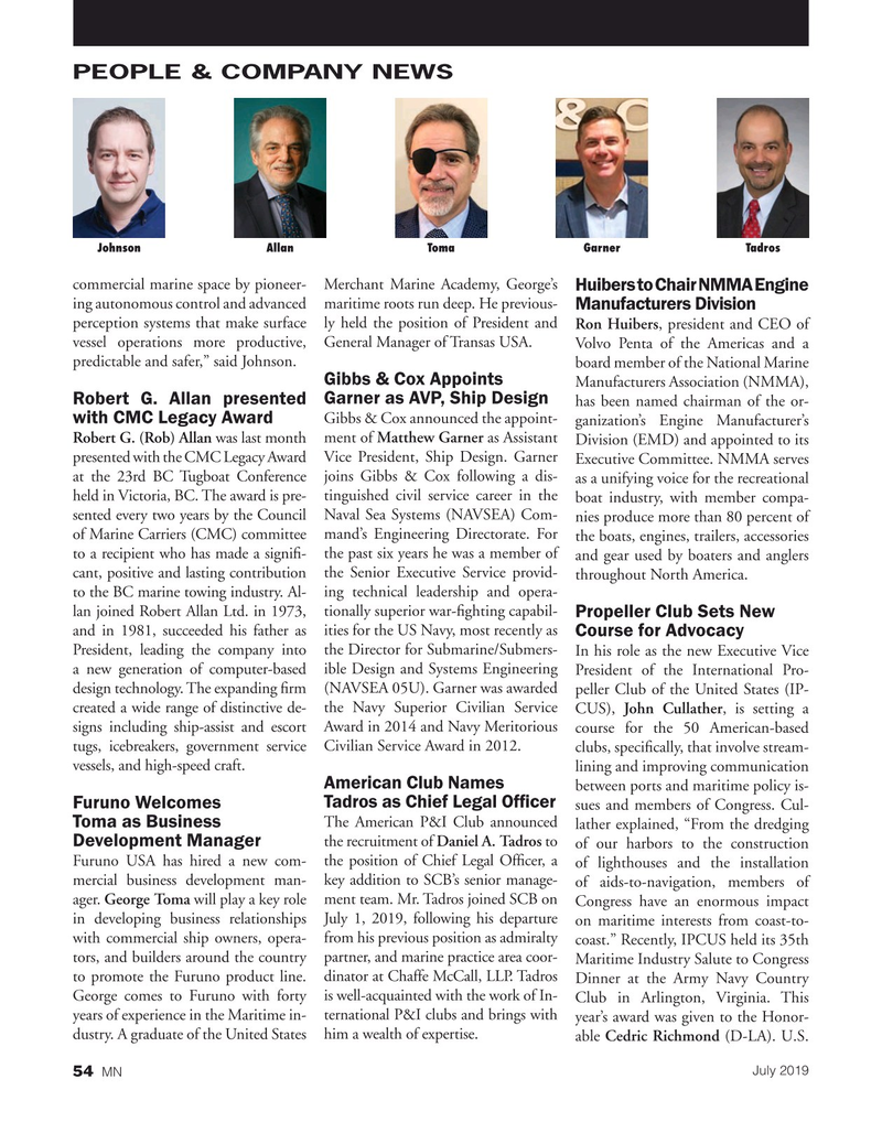 Marine News Magazine, page 54,  Jul 2019