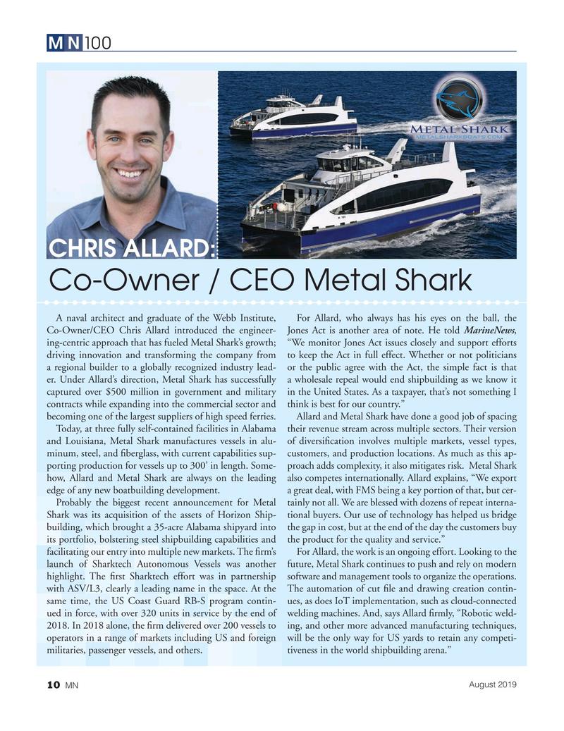 Marine News Magazine, page 10,  Aug 2019