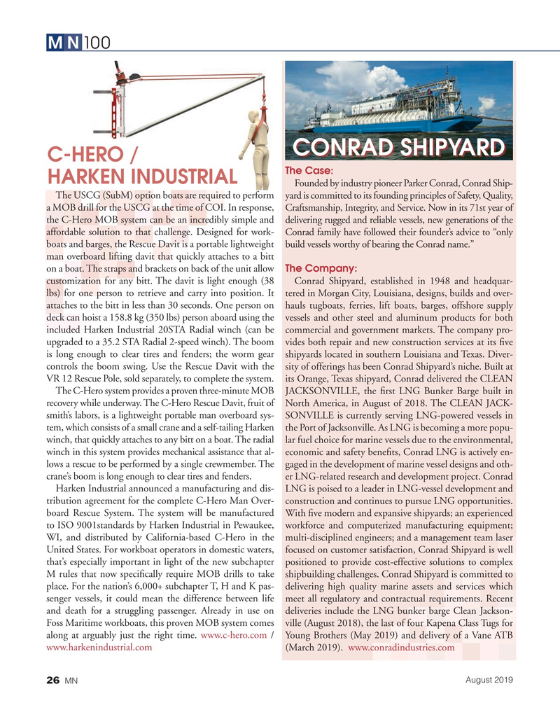 Marine News Magazine, page 26,  Aug 2019
