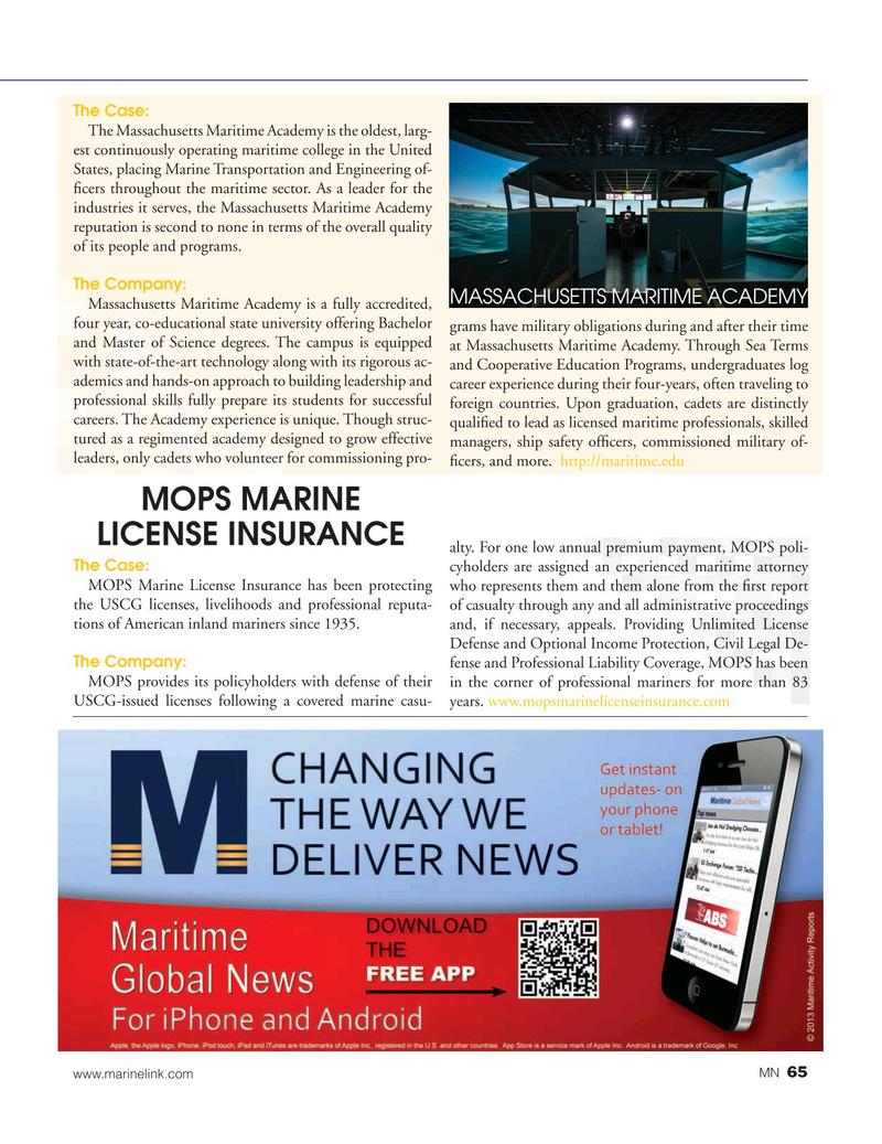 Marine News Magazine, page 65,  Aug 2019
