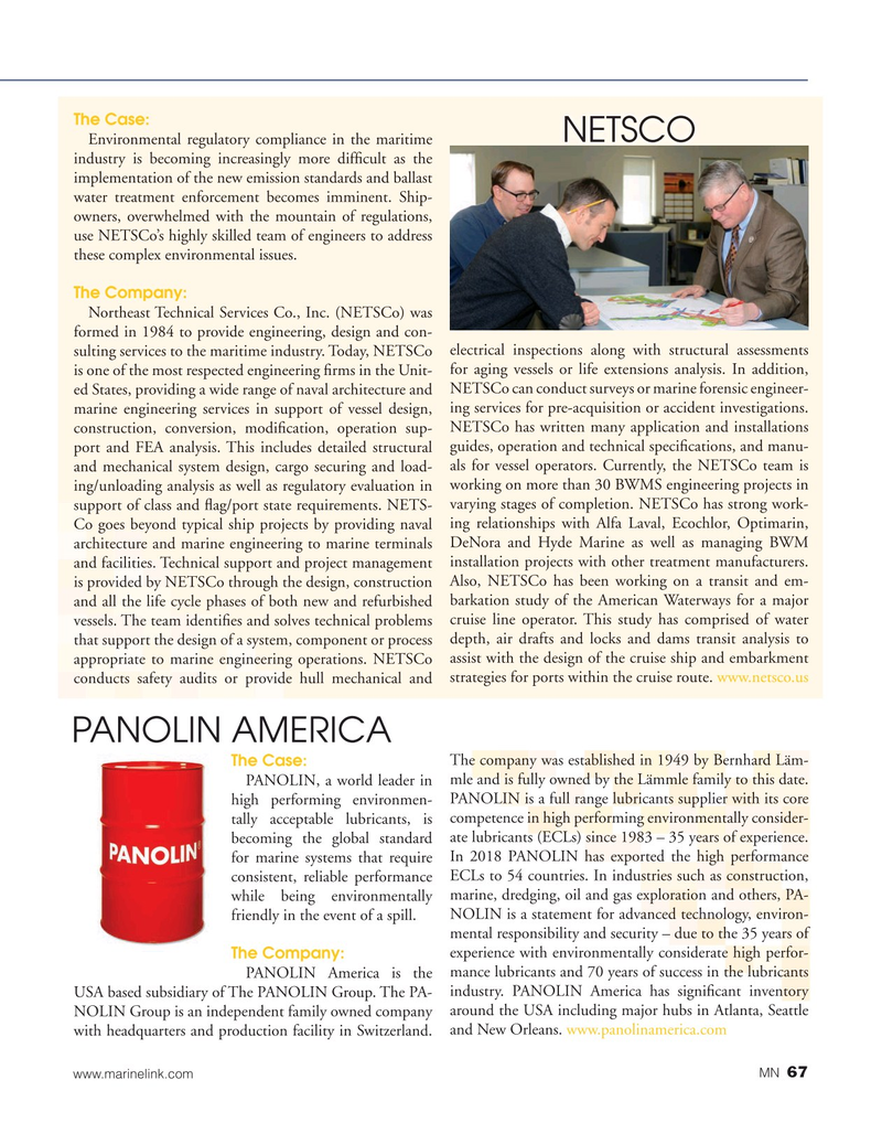 Marine News Magazine, page 67,  Aug 2019