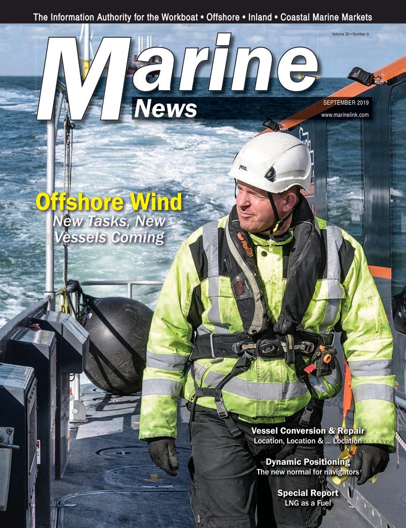 Marine News Magazine Cover Sep 2019 - Vessel Conversion and Repair