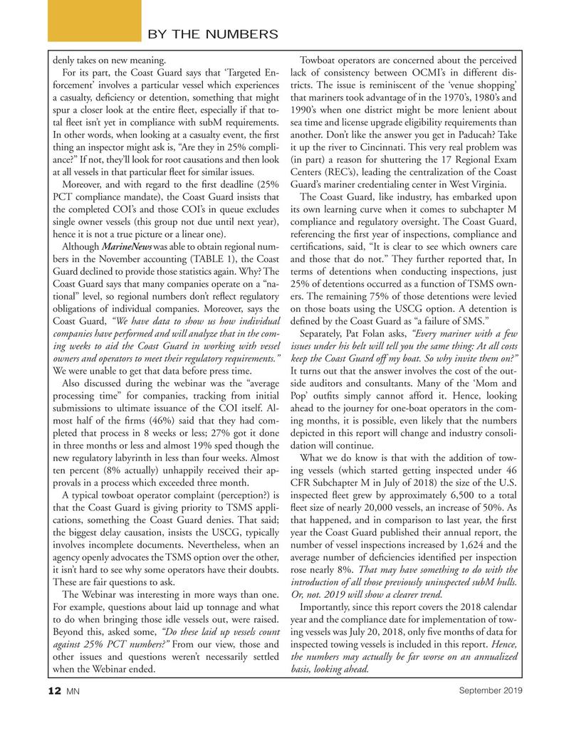 Marine News Magazine, page 12,  Sep 2019