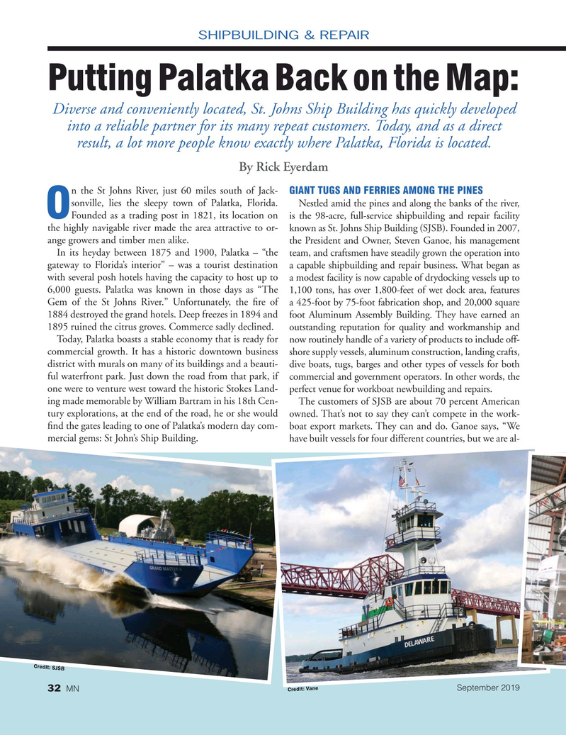 Marine News Magazine, page 32,  Sep 2019