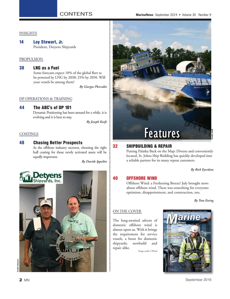 Marine News Magazine, page 2,  Sep 2019