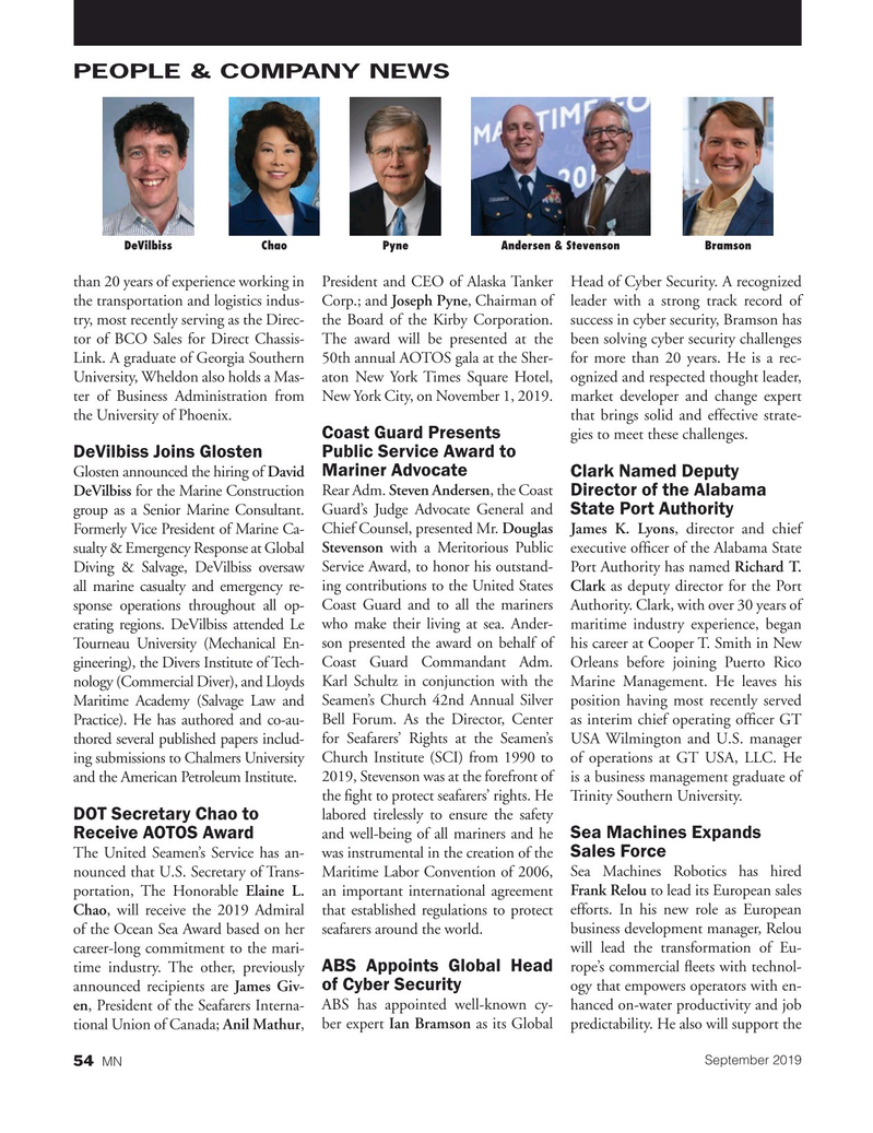 Marine News Magazine, page 54,  Sep 2019