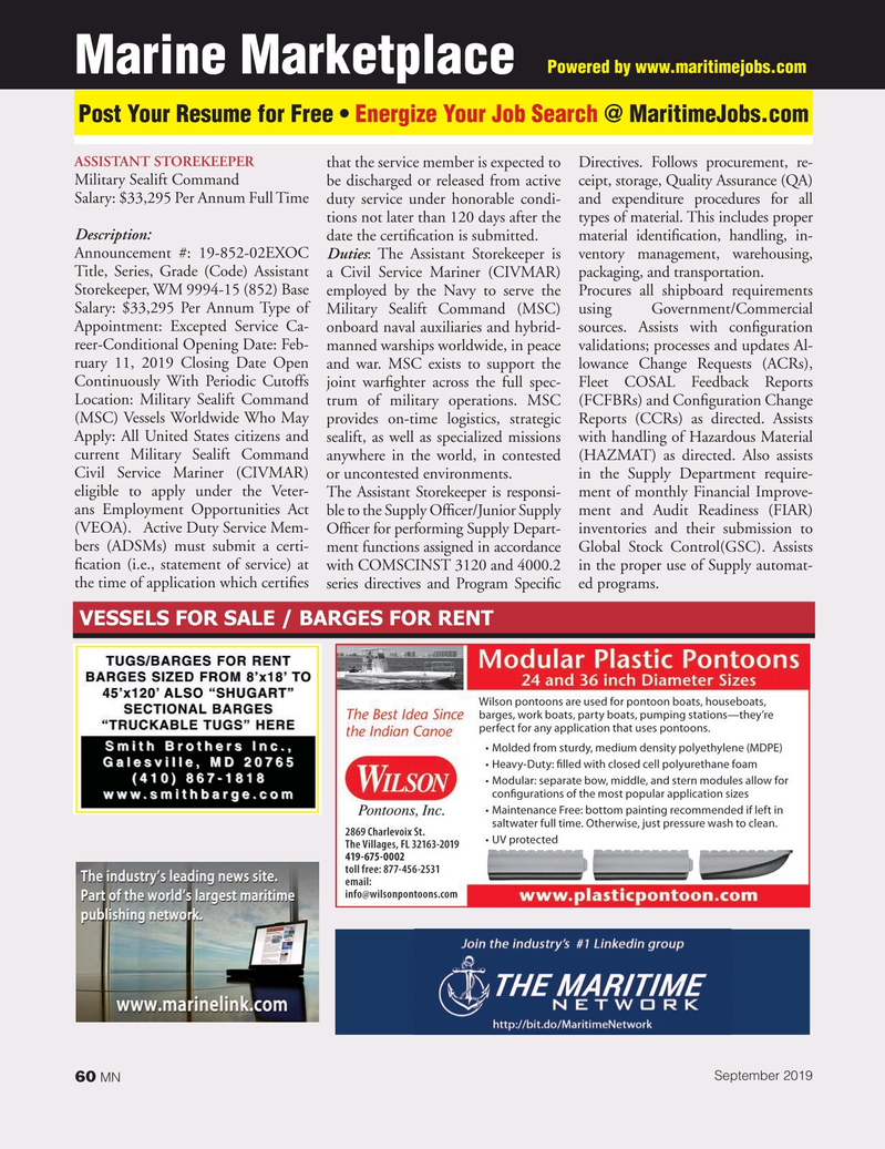 Marine News Magazine, page 60,  Sep 2019