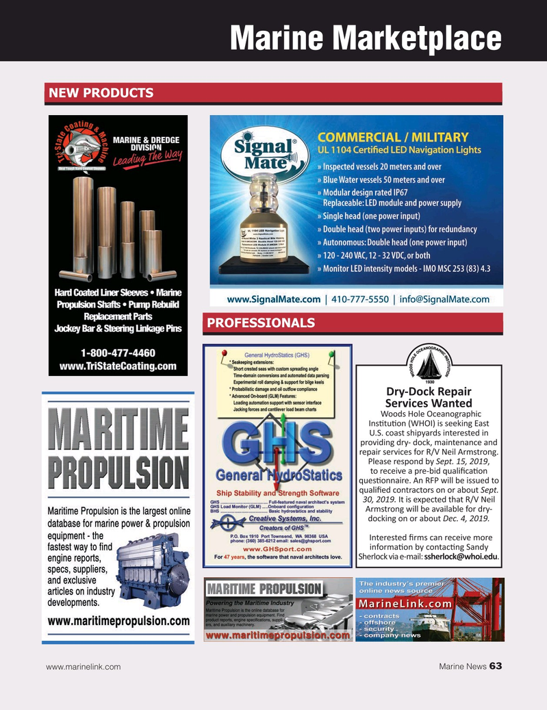 Marine News Magazine, page 63,  Sep 2019