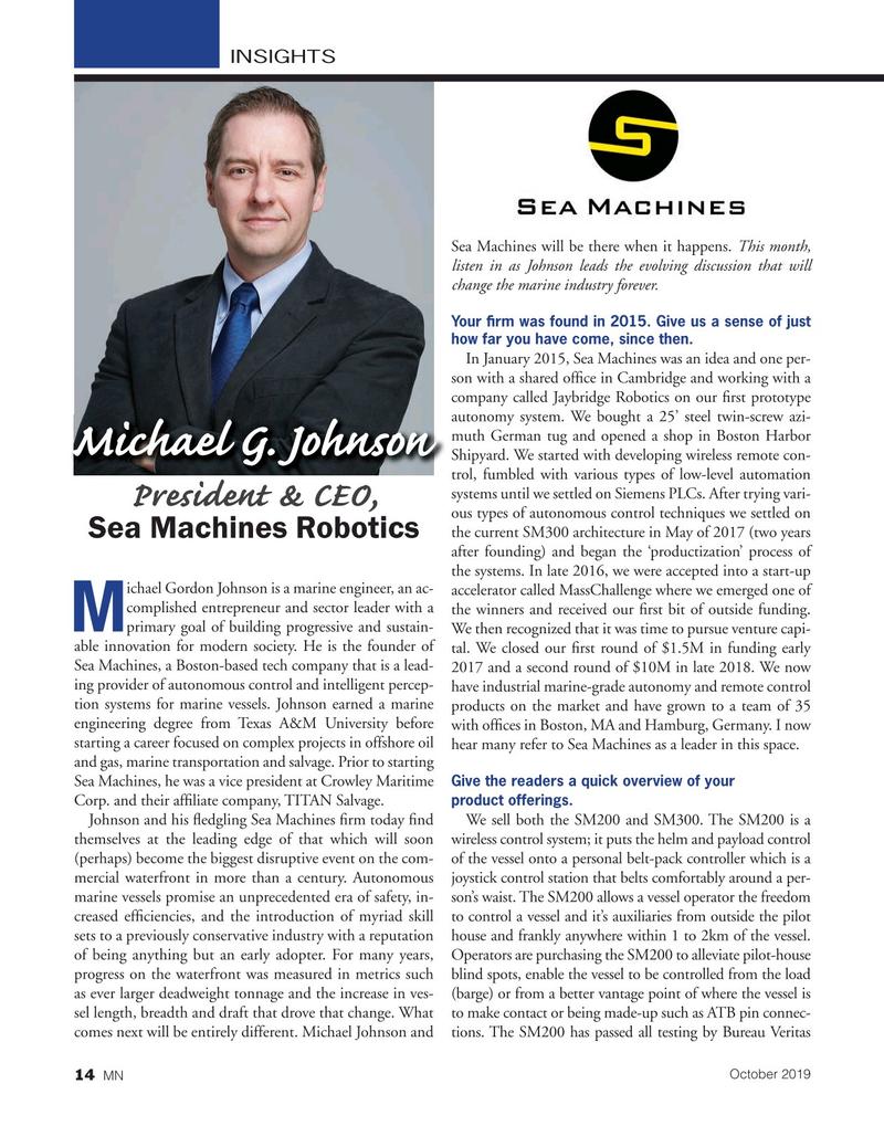 Marine News Magazine, page 14,  Oct 2019