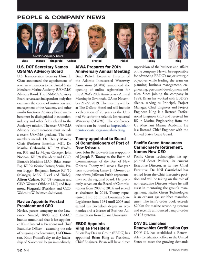 Marine News Magazine, page 52,  Oct 2019