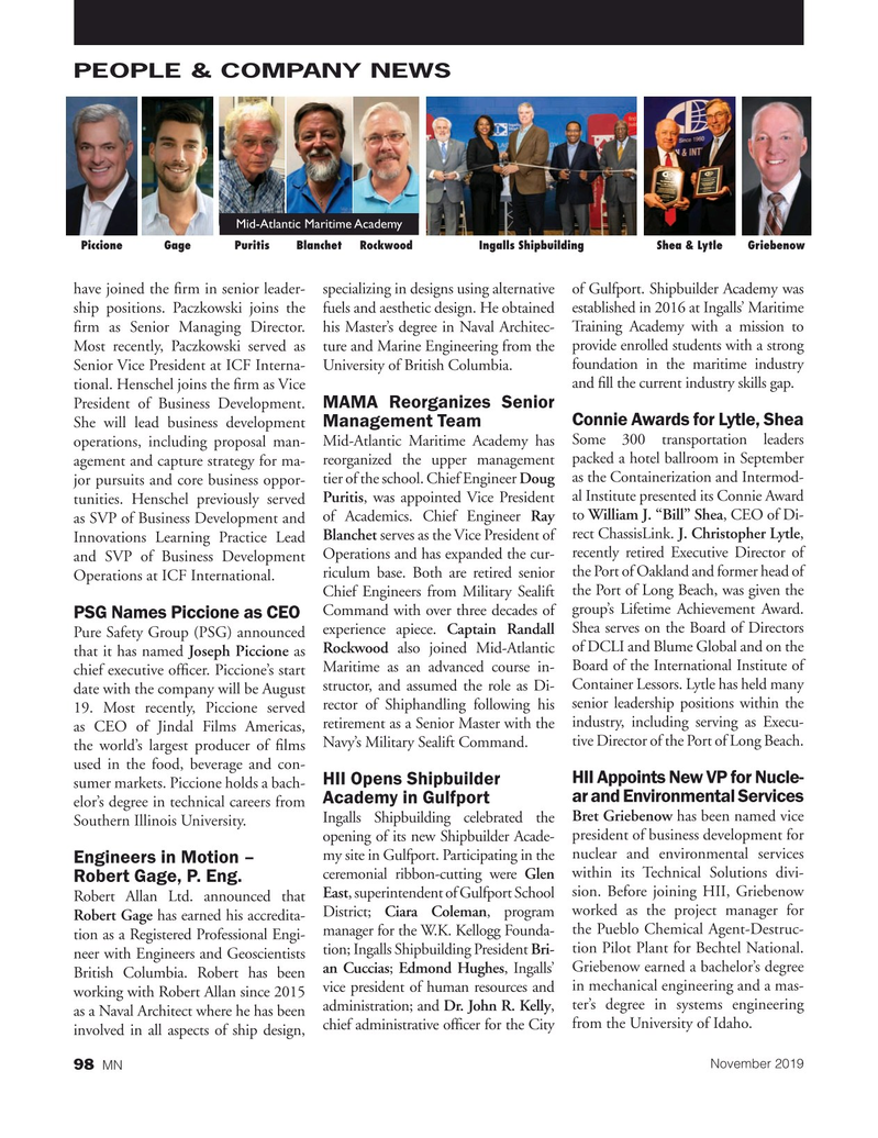 Marine News Magazine, page 98,  Nov 2019