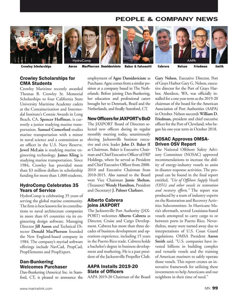 Marine News Magazine, page 99,  Nov 2019