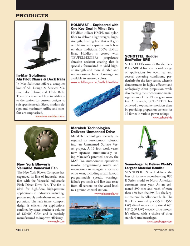 Marine News Magazine, page 100,  Nov 2019