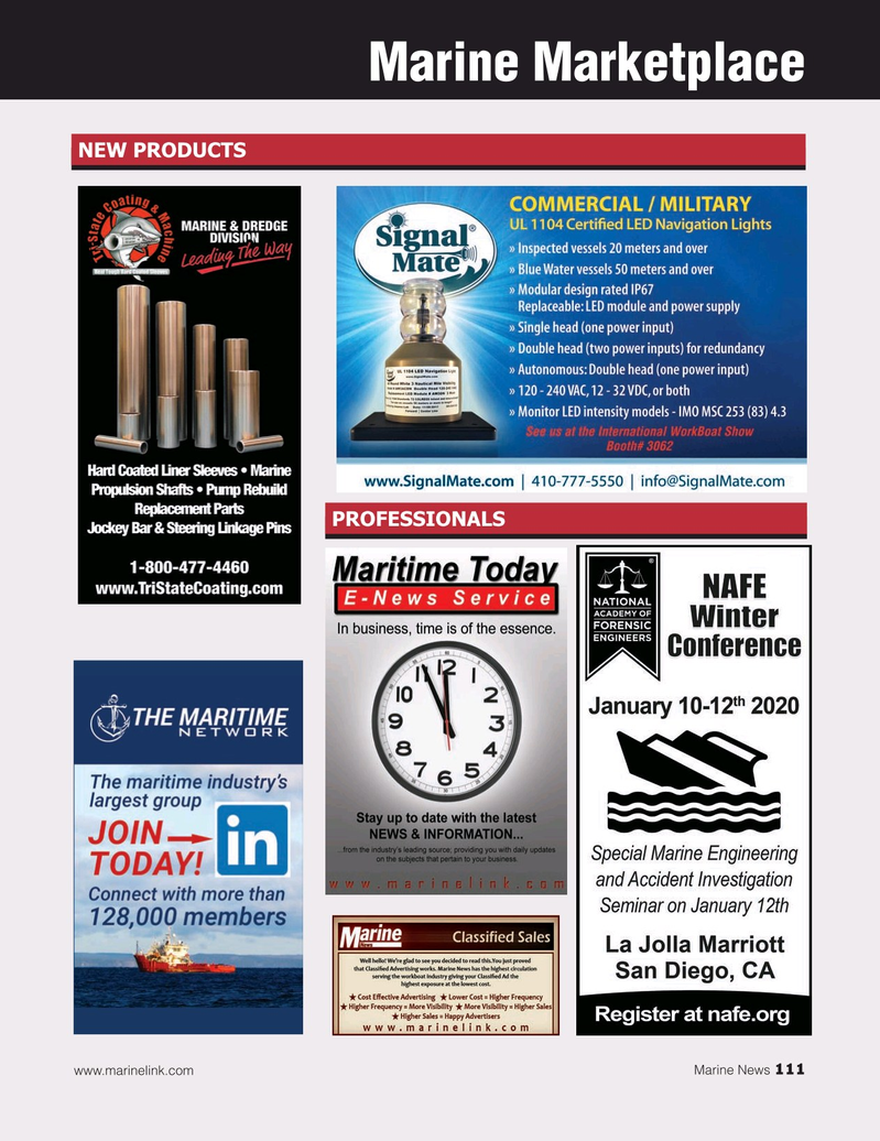 Marine News Magazine, page 111,  Nov 2019