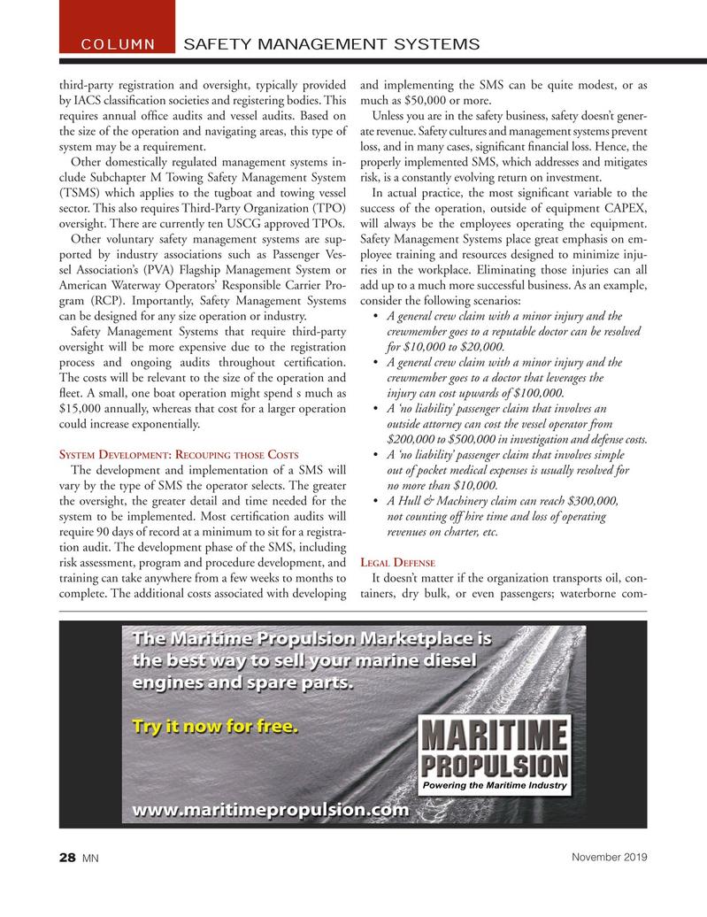 Marine News Magazine, page 28,  Nov 2019