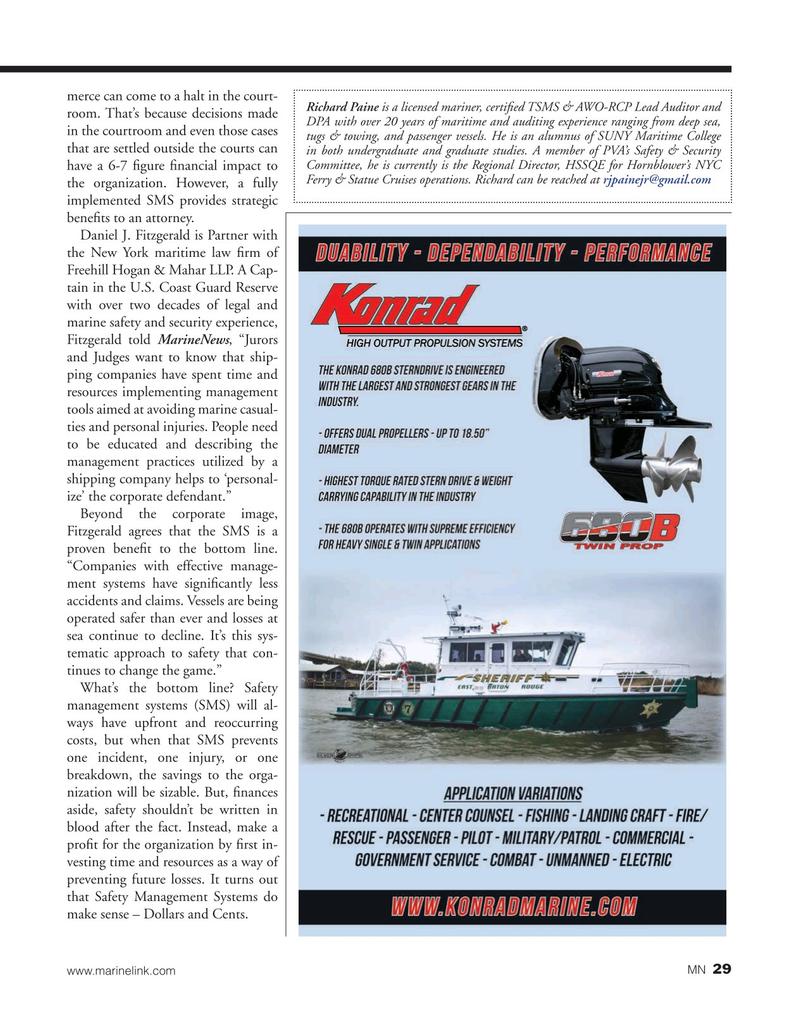 Marine News Magazine, page 29,  Nov 2019