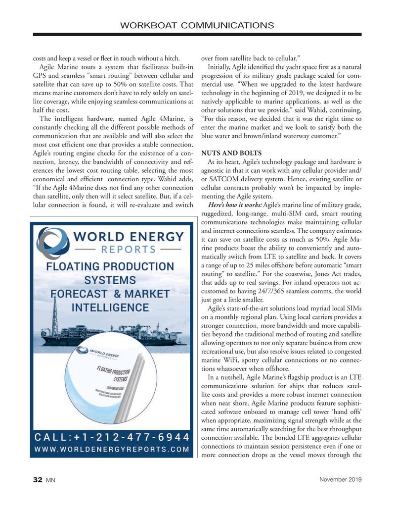 Marine News Magazine, page 32,  Nov 2019