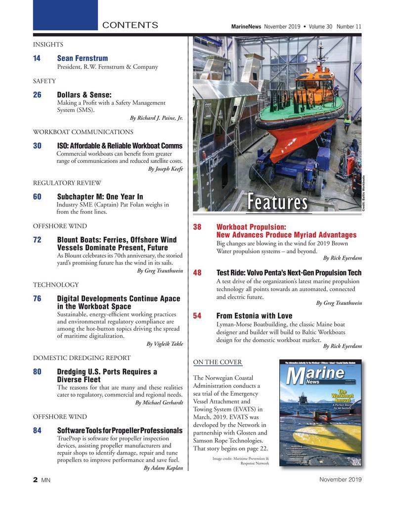 Marine News Magazine, page 2,  Nov 2019