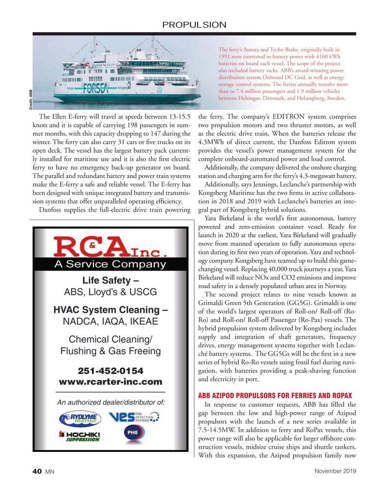 Marine News Magazine, page 40,  Nov 2019