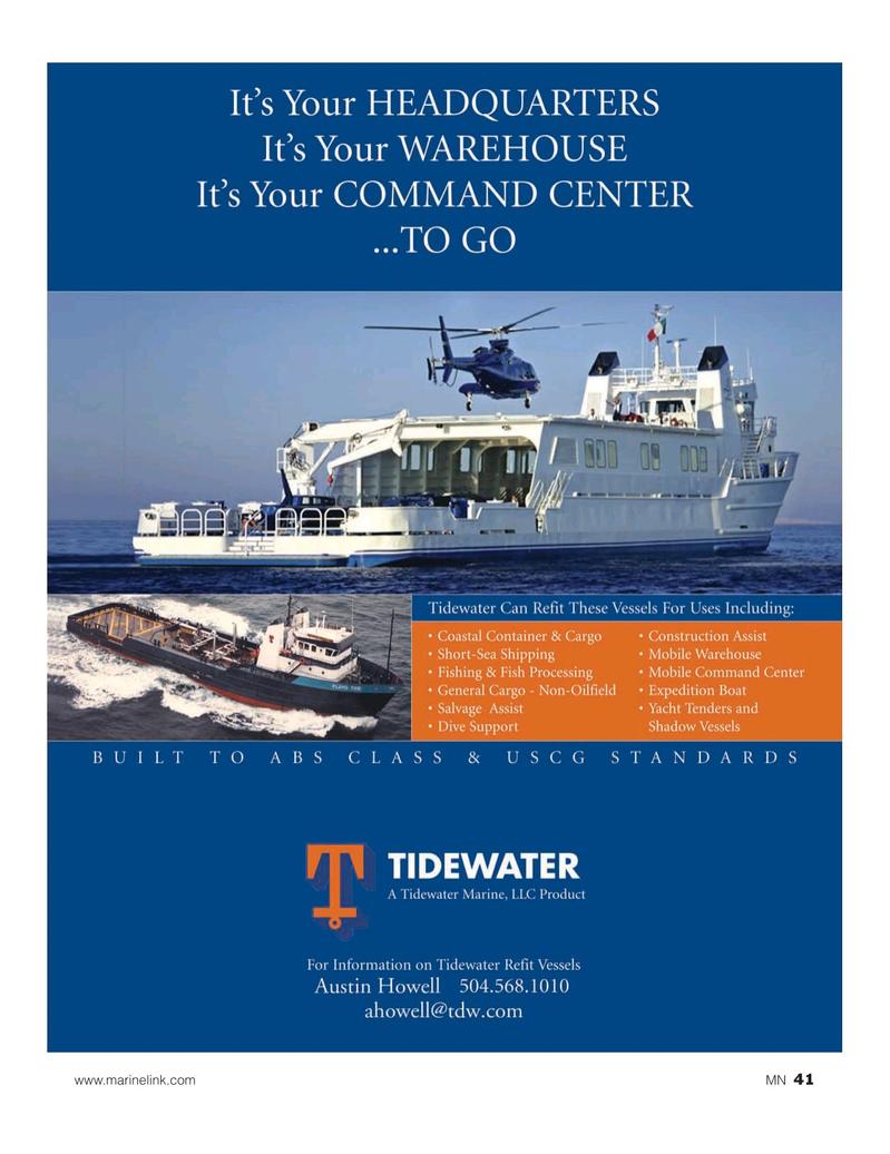 Marine News Magazine, page 41,  Nov 2019