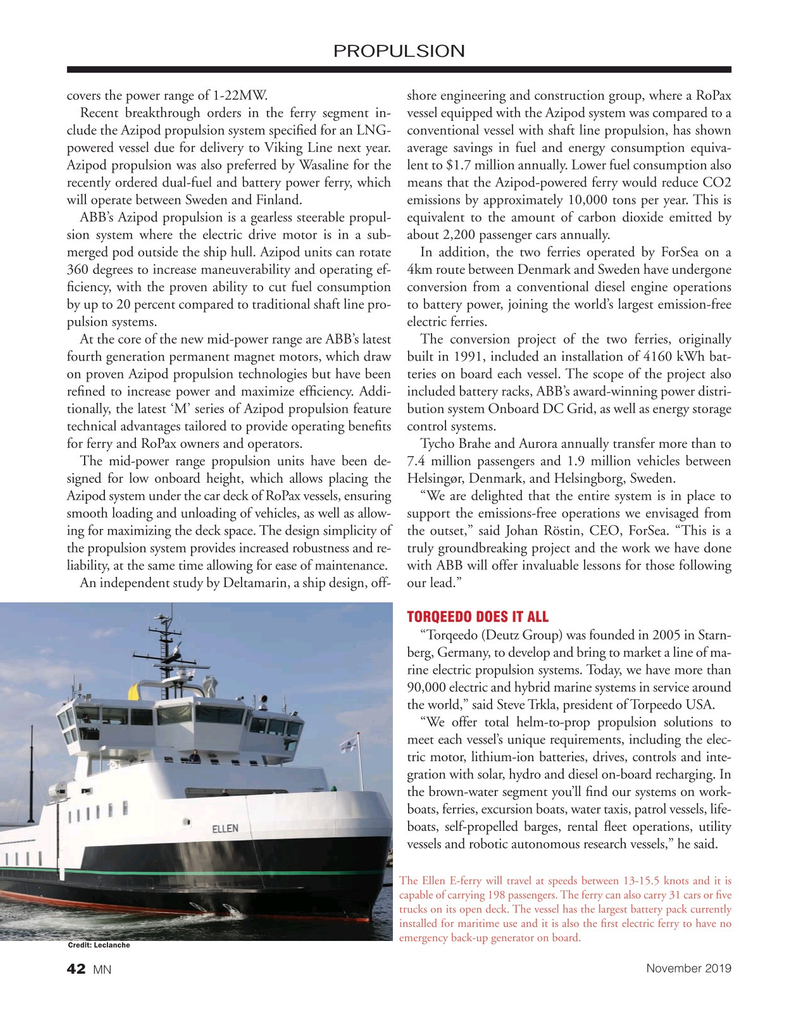Marine News Magazine, page 42,  Nov 2019