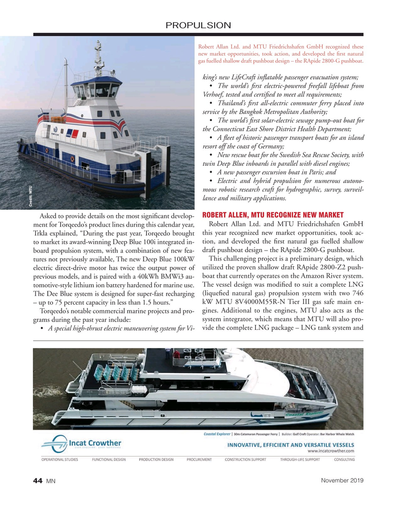 Marine News Magazine, page 44,  Nov 2019