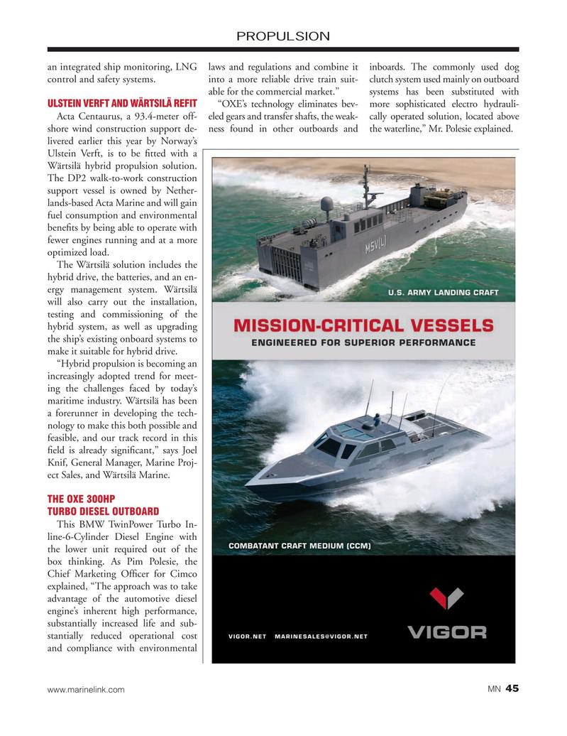 Marine News Magazine, page 45,  Nov 2019