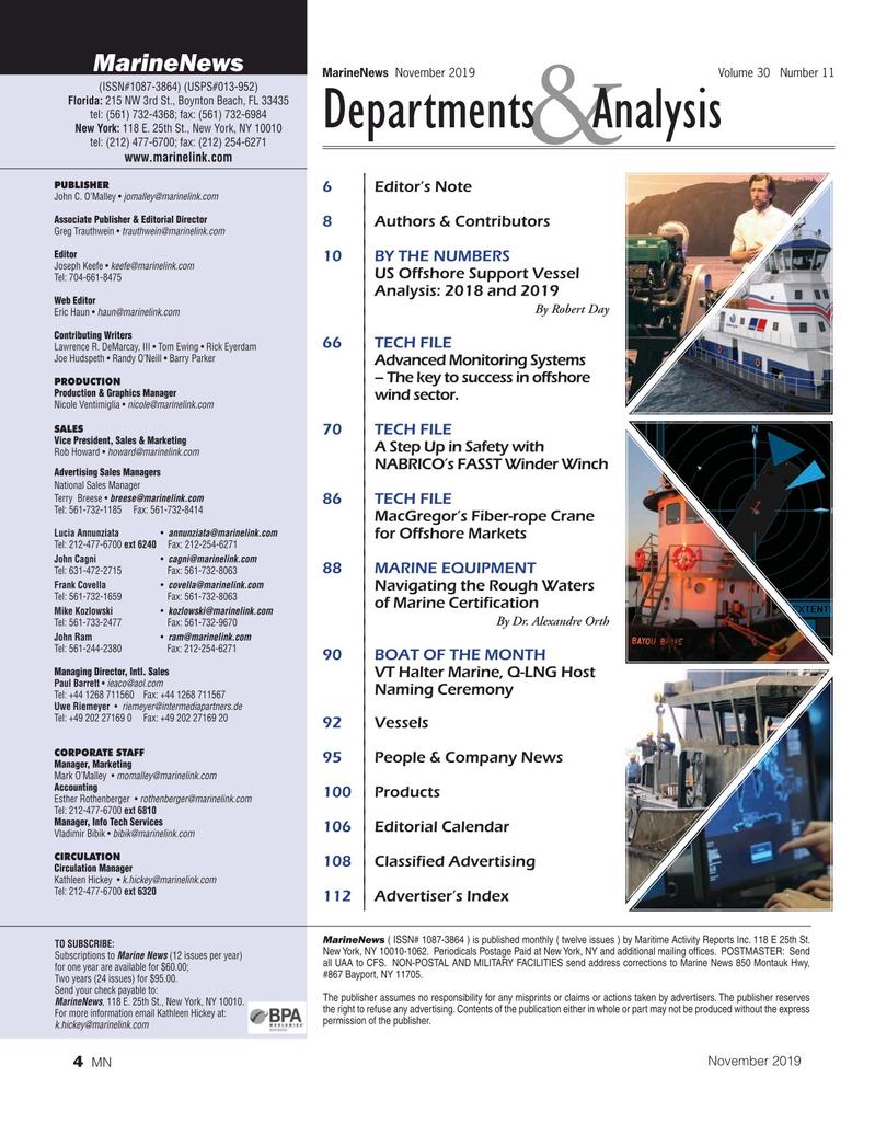 Marine News Magazine, page 4,  Nov 2019