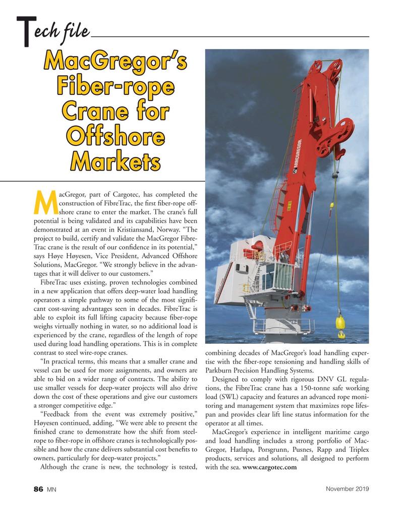 Marine News Magazine, page 86,  Nov 2019