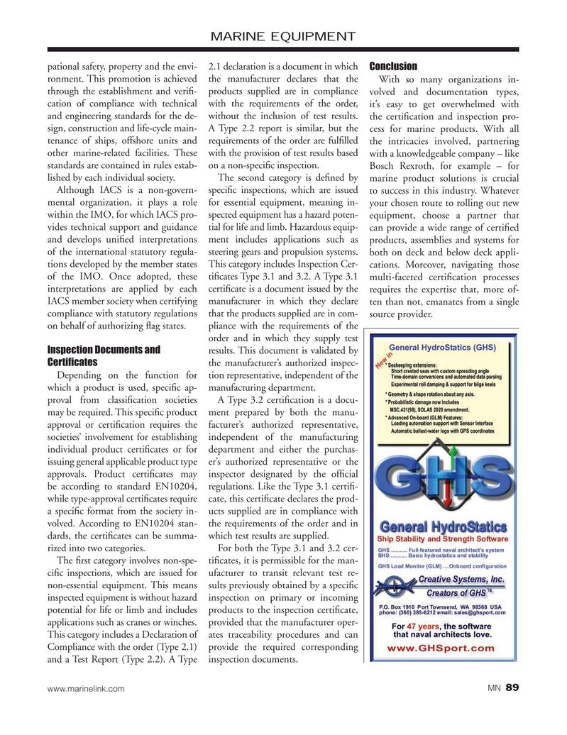 Marine News Magazine, page 89,  Nov 2019