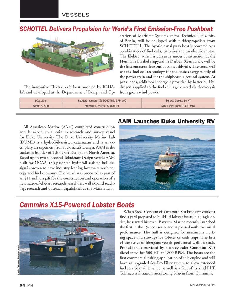 Marine News Magazine, page 94,  Nov 2019
