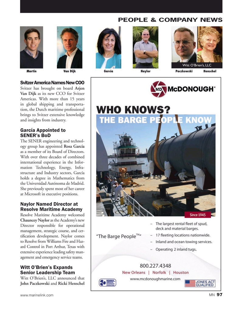 Marine News Magazine, page 97,  Nov 2019