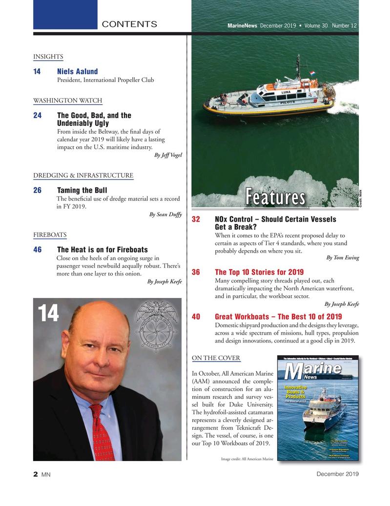 Marine News Magazine, page 2,  Dec 2019